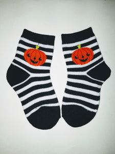 Pumpkin Stripes Crew Socks