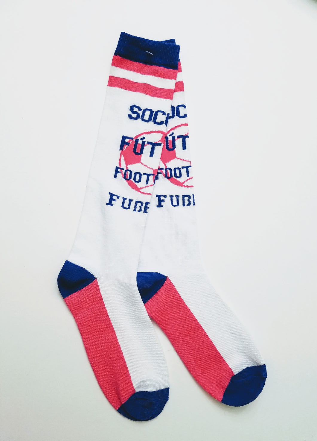 Soccer Phrase Knee High Socks
