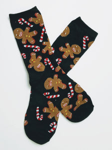Oh Snap Gingerbread Crew Socks