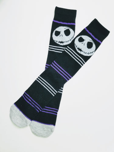 Jack Skellington Black Skeleton Crew Socks