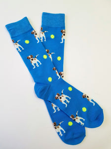Dog Tennis Ball Crew Socks