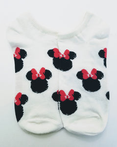 Minnie Mouse Heads Ankle Socks