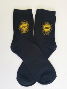 Joy Black Crew Socks