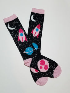 Space Knee High Socks