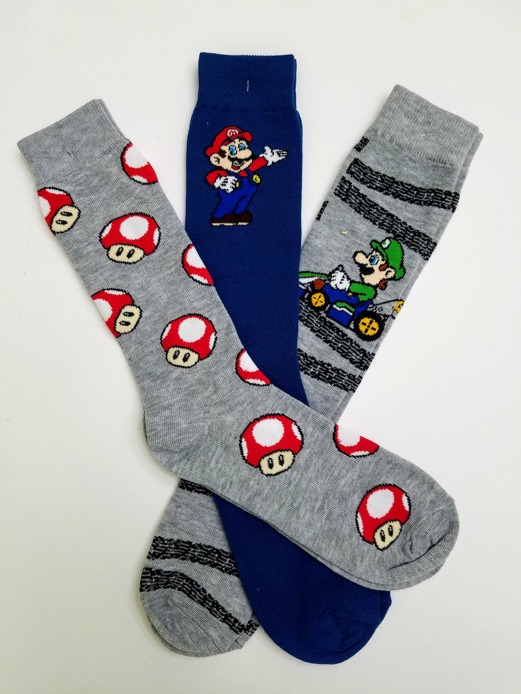 Mario Themed 3 Pack of Random Crew Socks