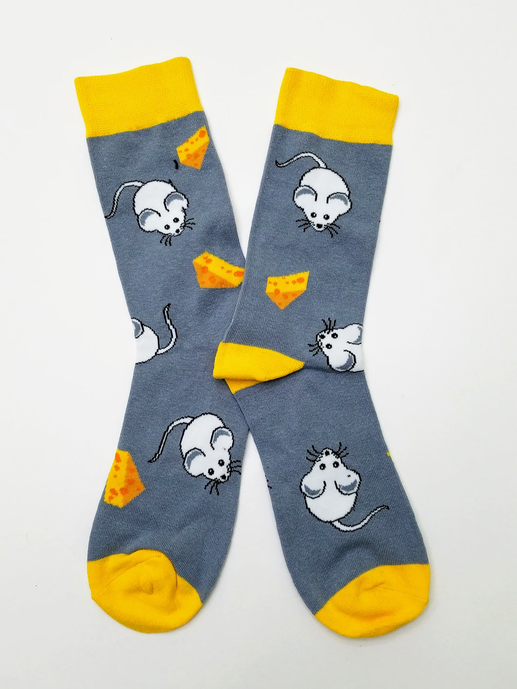 Mouse & Cheese Crew Socks