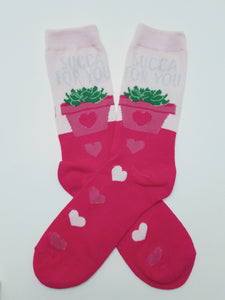 Succa For You Plant Crew Socks