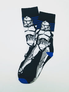 Stormtrooper Striped Crew Socks