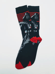 Darth Vader Striped Crew Socks