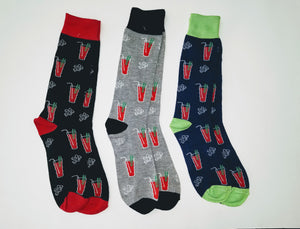 Bloody Mary Drink Crew Socks