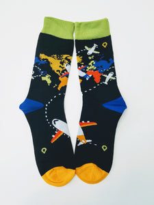 Aviation Travel Crew Socks
