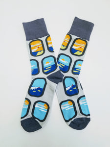 Airplane Window Crew Socks