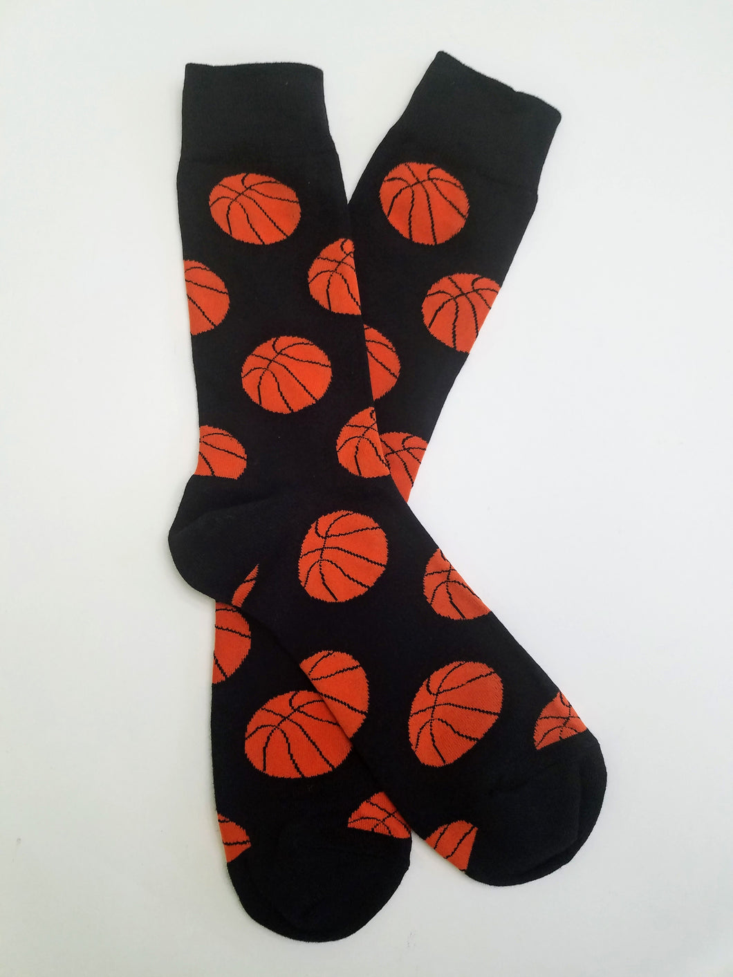 Basketballs Black Crew Socks