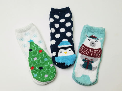 Fuzzy Winter Crew Socks
