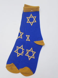 Star of David Hanukkah Crew Socks