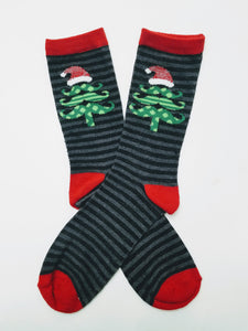 Santa Hat Tree Crew Socks