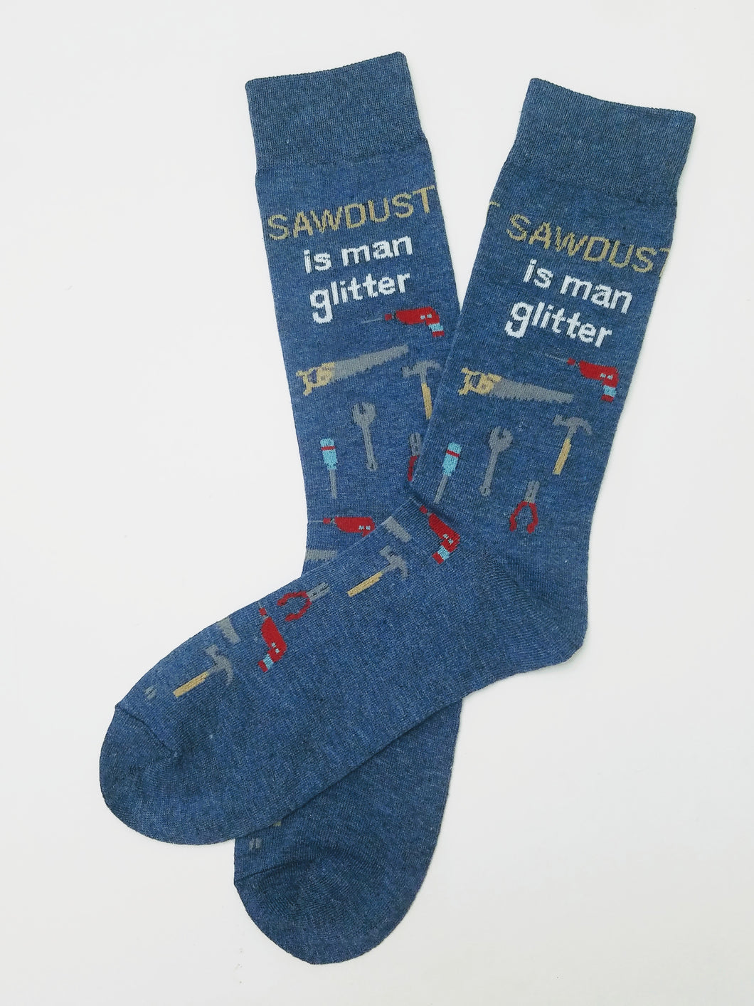 Sawdust is Man Gillter Crew Socks