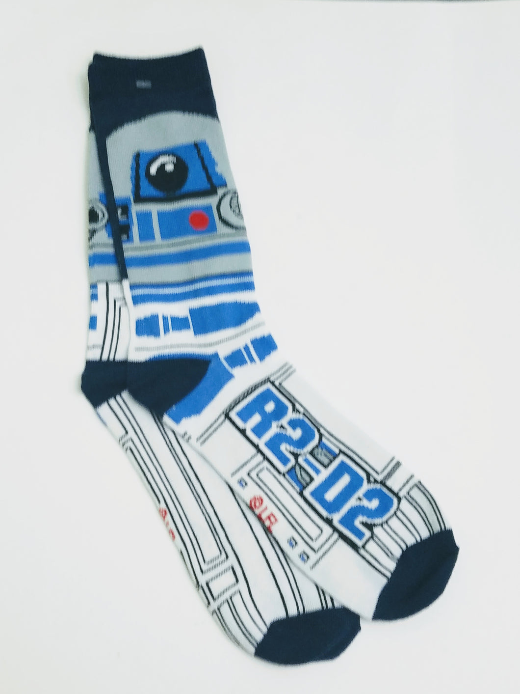 R2D2 White & Blue Crew Socks