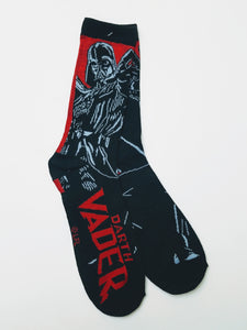 Darth Vader Red Background Crew Socks
