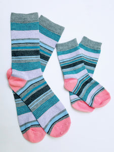Mother and Child Matching Crew Socks (Small)