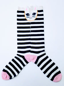 Bunny Rabbit Striped Knee High Socks