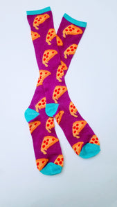 Pizza Drip Knee High Socks