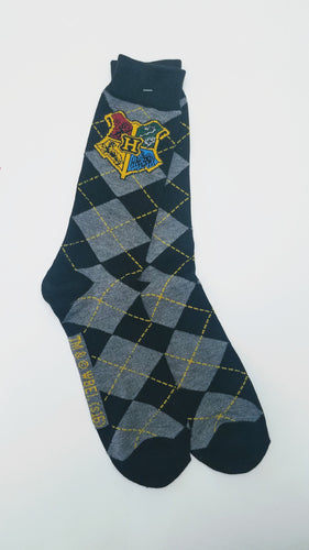 Harry Potter Hogwarts Icon Argyle Crew Socks