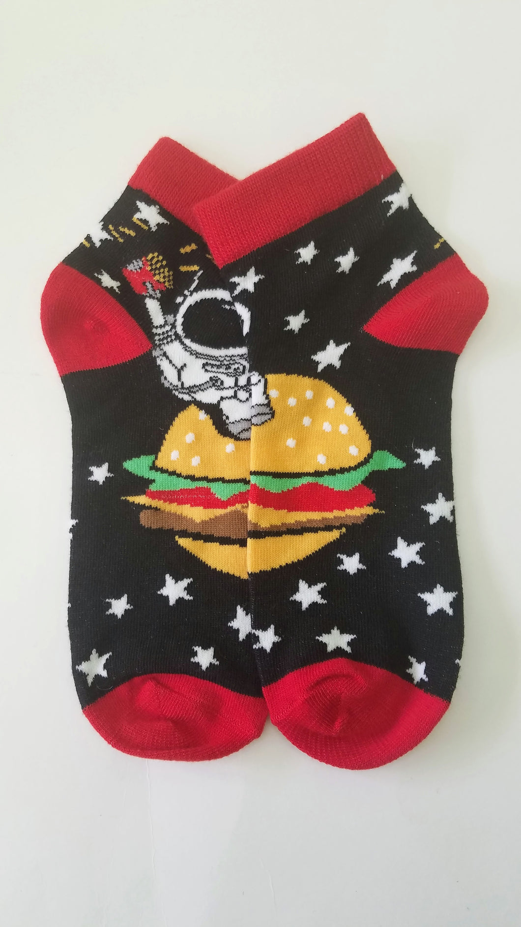 Cheeseburger Space Low Crew Socks