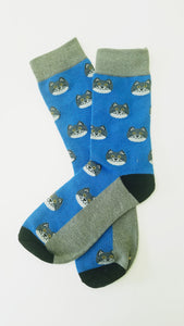 Cat Heads Crew Socks