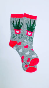 Aloe You Very Much Crew Socks