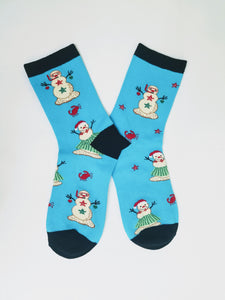 Christmas in July Snowman Crew Socks