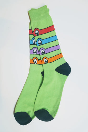 Teenage Mutant Ninja Turtles Eye Mask Crew Socks