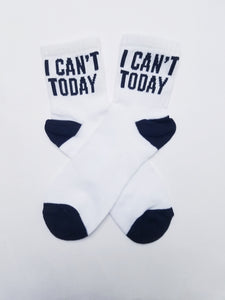 I Can't Today Low Crew Socks