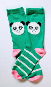 Panda Bear Fuzzy Head Ankle Socks
