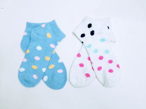 Fuzzy Polka Dot Ankle Socks