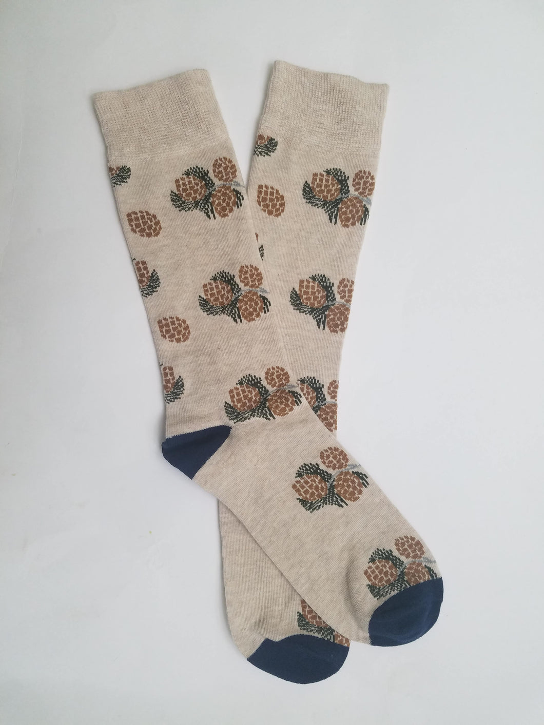 Pinecone & Pine Tree Branch Crew Socks