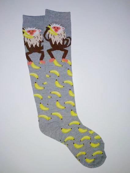 Monkey Banana Knee High Socks