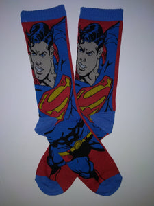 Superman Flying Crew Socks