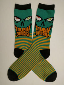 Green Word Zombie Crew Socks