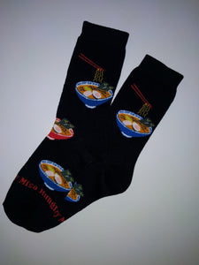 Miso Hungry Black Crew Socks