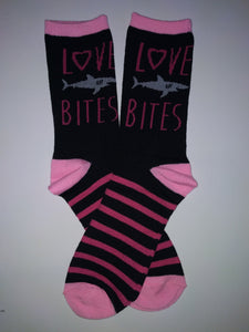 Love Bites Shark Crew Sock