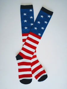 Flag Knee High Socks