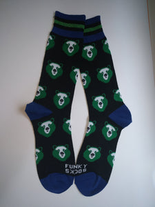 Bear Head Crew Socks