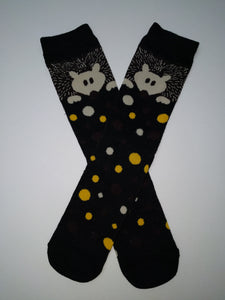 Hedgehog Dots Crew Socks