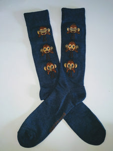 Monkey Emoji Crew Socks