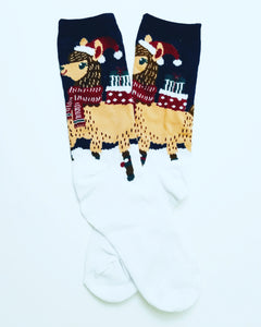 Llama Presents Crew Socks