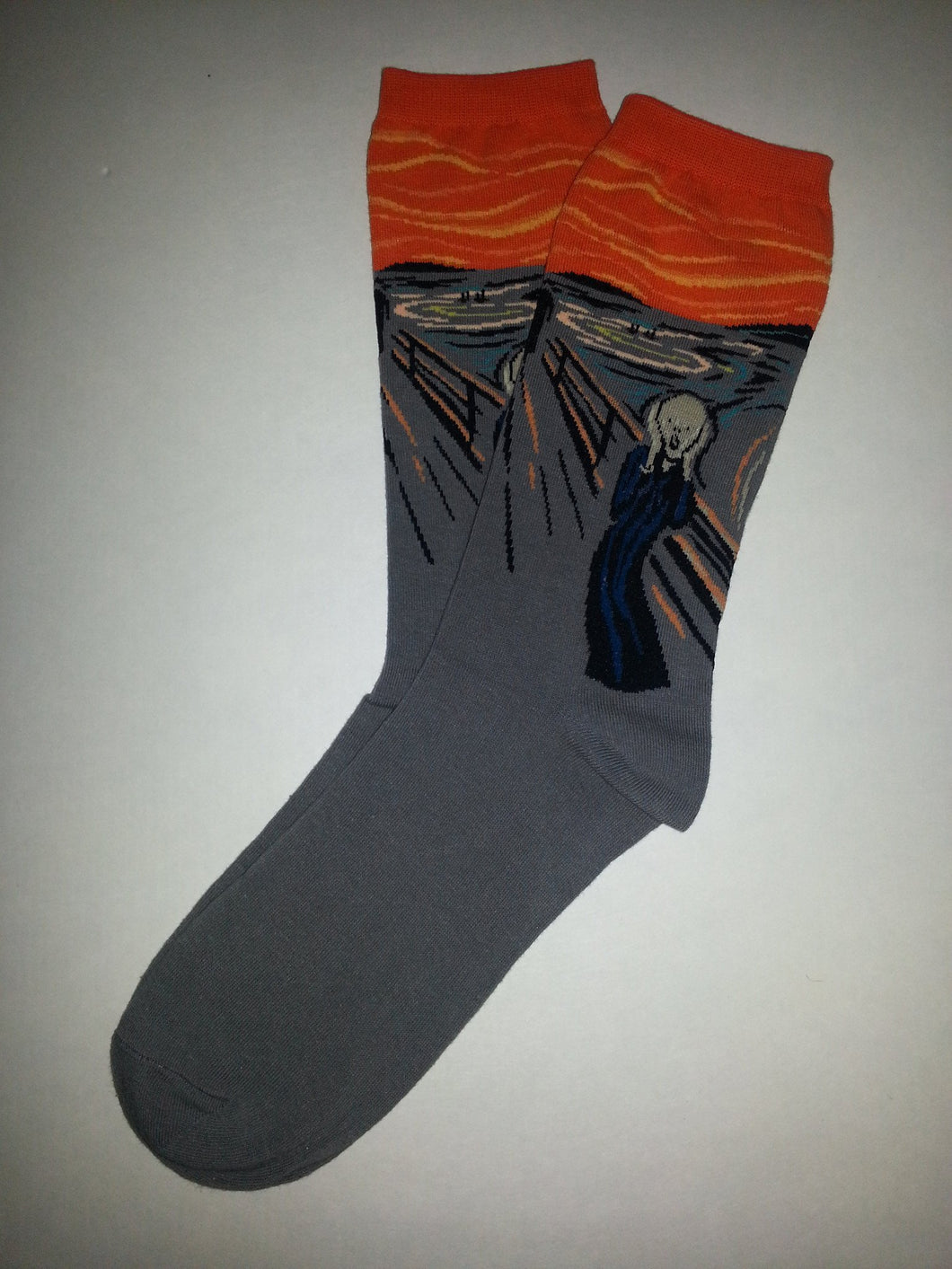 The Scream by Edvard Munch Crew Socks