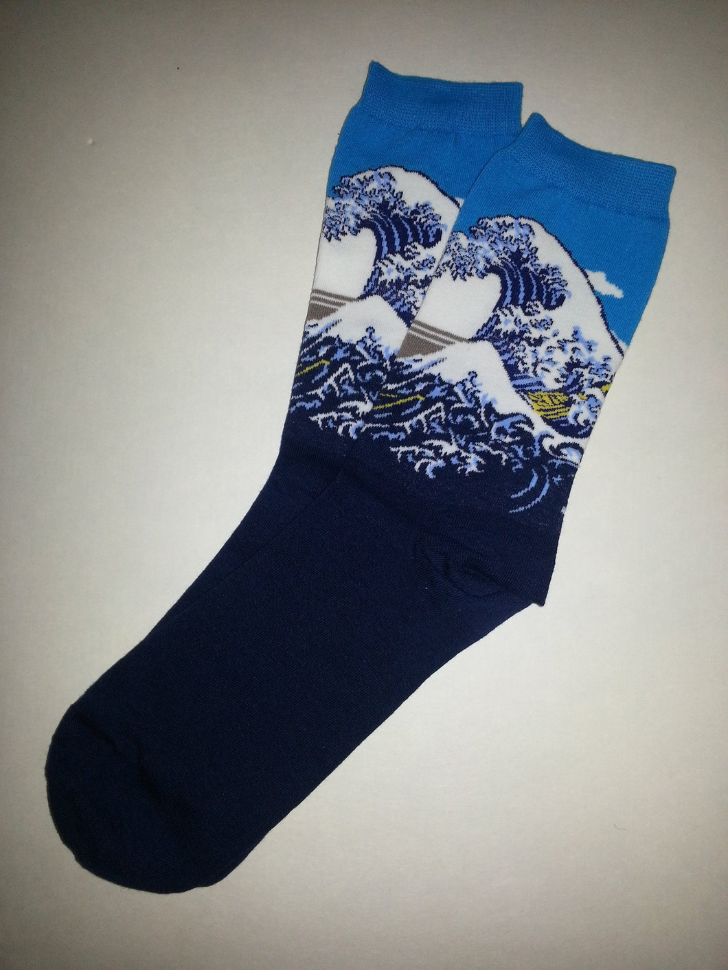 The Great Wave by Hokusai Crew Socks