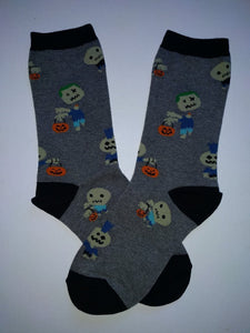 Zombies & Pumpkins Crew Socks
