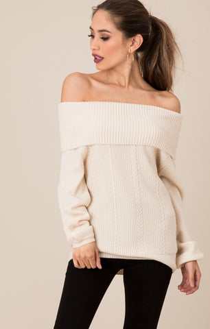 Black Swan  Chloe Off-The-Shoulder Sweater